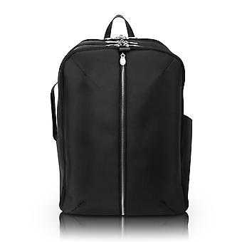 """78895, U Series, Englewood 17"""" Nylon, Triple Compartment, Carry-All, Laptop & Tablet Weekend Backpack - Black"""