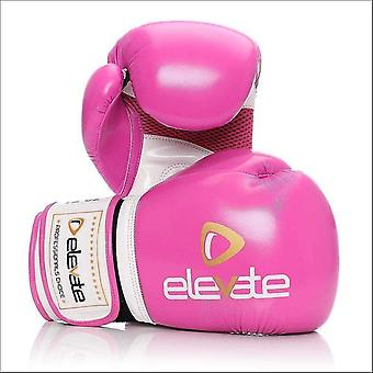 Elevate  airtec boxing gloves - pink white