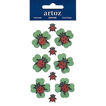 Ladybird Four Leaf Clover Craft utsmyckning av Artoz