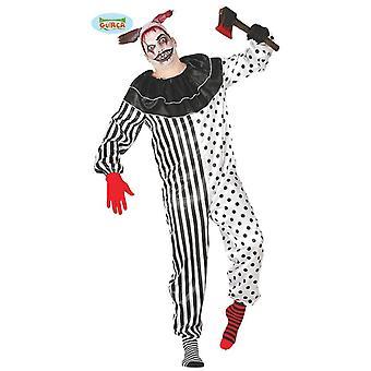 Disfraz de Halloween de Pierrot para el payaso de los hombres traje de Halloween Clownkostüm salvaje