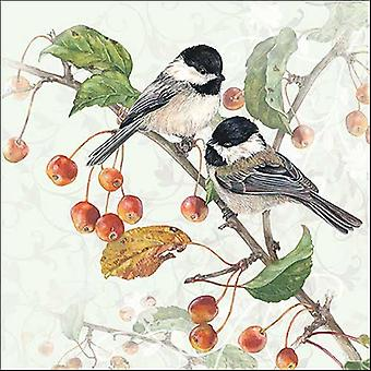 Ambiente 3 Ply Paper Napkins, Chickadee