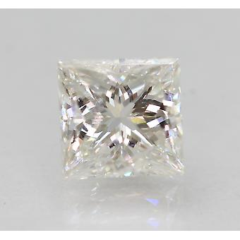 Certificado 0.91 Carat E VVS2 Princesa Diamante Suelto Natural Mejorado 5.45x5.29mm