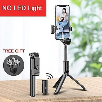 To LED Fill Light Bluetooth fjernbetjening Selfie Stick med stativ til mobiltelefon / desktop stand bærbar stretchable-holder