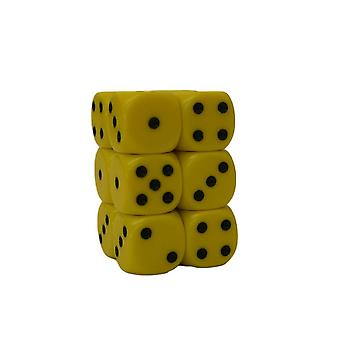 Chessex Opaque 16mm D6 x 12 - Yellow/black