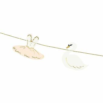 Swan Ballerina Garland Bunting 2m Party Bedroom Decoration