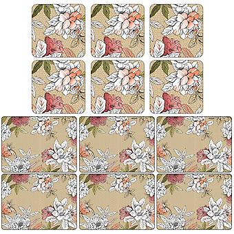 Pimpernel Floral Sketch Placemats and Coasters