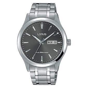 Lorus Mens Classic Stainless Steel Bracelet Dress Watch (Model No. RXN35DX9)