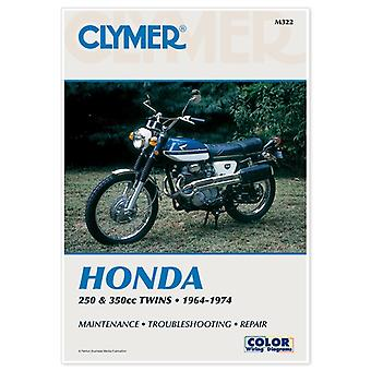 Clymer M322 Manual for Honda 250-350CC Twins 64-74
