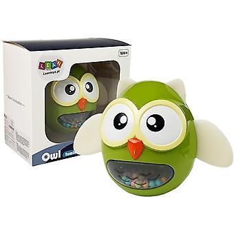 Owl Rattle Bites Børns Legetøj Green