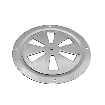Stainless Steel Boat Marine Round Air Louver Grille Ventilator Cover, Side Knob