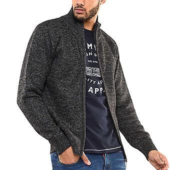Duke D555 Mens Sherwood Regular Fleece Lined Casual Zip Up Jacket - Black Marl