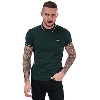 Men's Weekend Offender Liberty Tipped Polo Shirt in Green