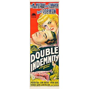Double Indemnity Australian Poster Art Top From Left Fred Macmurray Barbara Stanwyck Bottom From Left Barbara Stanwyck Fred Macmurray 1944 Movie Poster Masterprint