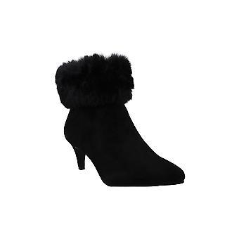 Alfani Kvinders Hansonn Fur Bootie Ruskind pegede tå ankel fashion støvler
