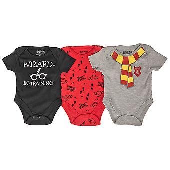 Harry Potter 3-Pack Boy's Vauvan bodyt