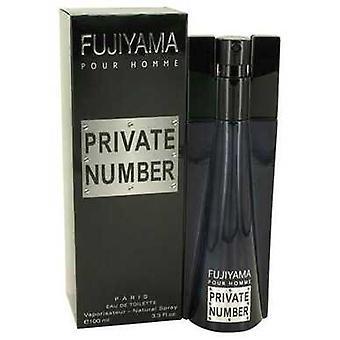 Fujiyama Private Number By Succes De Paris Eau De Toilette Spray 3.3 Oz (men) V728-496795