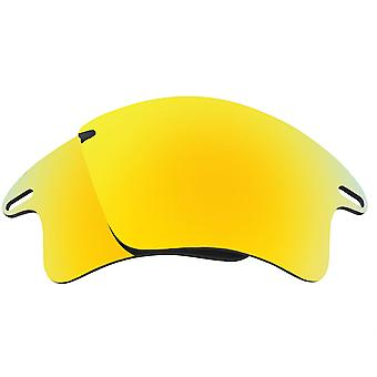 Replacement Lenses for Oakley Fast Jacket XL Sunglasses Anti-Scratch Gold Mirror