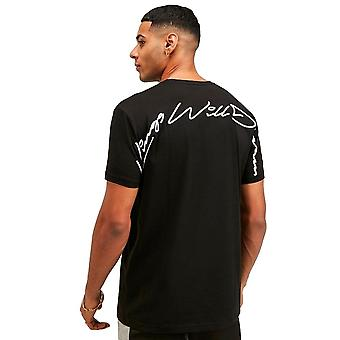 Kings Will Dream   Kwd Narca 2132 Large Script Back Logo Half-sleeve T-shirt - Black