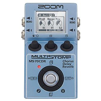 Zoom ms-70cdr multistomp chorus/delay/reverb pedal junto con cables y...