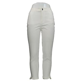 Motto Women's Pants Ivory 5-Pocket Cropped Cotton 648-938