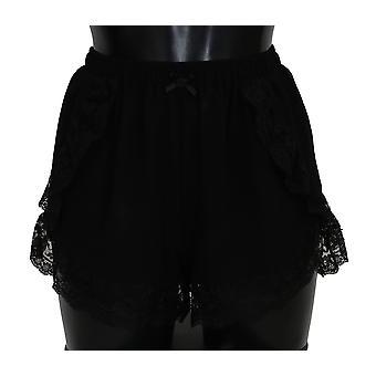 Black silk shorts bottoms underwear