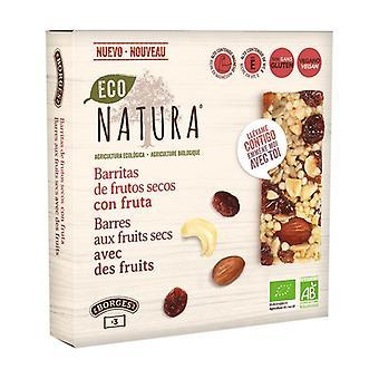 Pähkinäpatukat, joissa ei ole hedelmiä