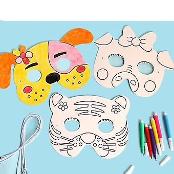 Cartoon Animal Painting Mask - Kindergarten Graffiti Art Crafts Creative