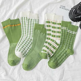 Color Pattern Crew Sock