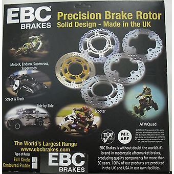 EBC Främre kontur bromsskiva MD1168XC 296mm Motorcykel broms rotor Silver