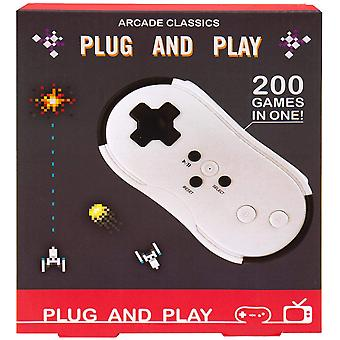 Fizz Kreationen Plug And Play Handheld Classic Retro Gaming Controller mit 200 Spiele