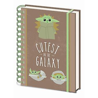 Star Wars: The Mandalorian Cutest In The Galaxy A5 Wirebound Notebook