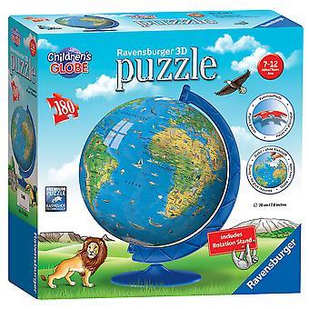 Ravensburger children's wereldbol 180 stuk 3d puzzel