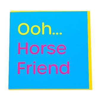 Gubblecote Horse Friend Greetings Card
