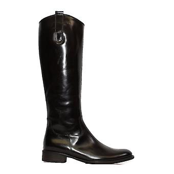 גאבור ברוק 648-28 אספרסו חום עור נשים רזה בכושר ארוך רגל מגפיים