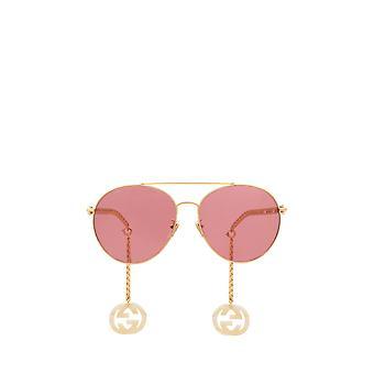 Gucci GG0725S guld kvindelige solbriller