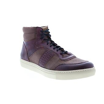 Andrew Marc Concord  Mens Brown Leather Lifestyle Sneakers Shoes
