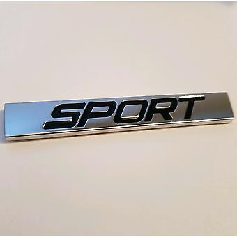 SPORT TDI Rear Boot Lid Trunk Silver Chrome/Black Badge Emblem 77mm x 11mm for A1 A2 A3 A4 A5 A6 A7 A8