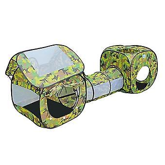 Joaca cort juca tunel - camuflaj - pliabil