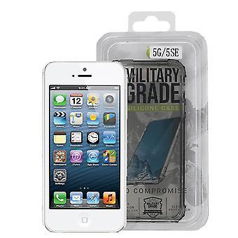 iParts4u Military Grade Silicone Case - iPhone 5/5S/SE - Black