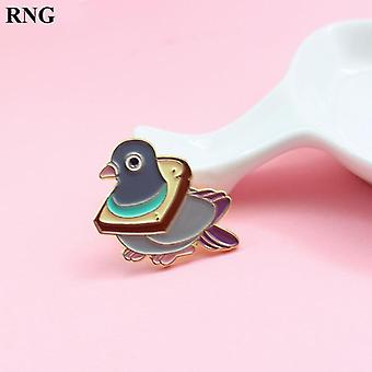 Cute Bird Bread Metal Émail Pin Wheat Delicious Slice Collar Cartoon Badge Cute Bird Bread Metal Émail Pin Wheat Delicious Slice Collar Cartoon Badge Cute Bird Bread Metal Émail Pin Wheat Delicious Slice Collar Cartoon Badge Cute Bird Bread Metal É