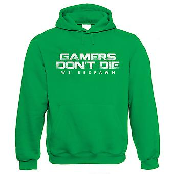 Gamers Don't Die We Respawn Gamer Hoodie - para Xbox PS4 PC Video Game Players