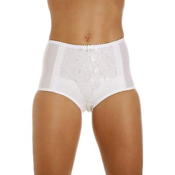 Camille Womens Two Pack White Lace Control Shapewear Briefs