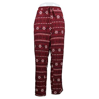 Alle kvinner's Petite Sleep Pants Jersey Print Tie Linning Rød A387704