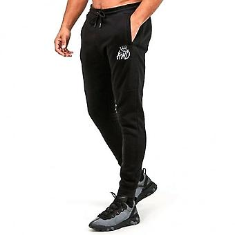 Kings Will Dream Crossly Black Joggers Bottoms