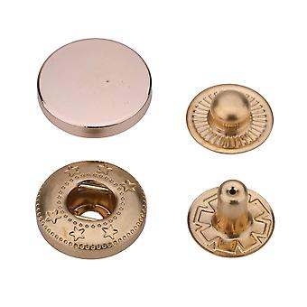 12.5mm,Alloy Cap S Spring Press Studs 4 Part Metal Back Snap Fasteners