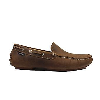 Loake Donington Brown Nubuck Leather Mens Driving Shoes