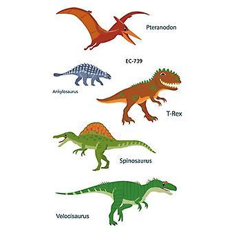 Dinosaur Birthday Party Tattoo Stickers, Dino, Waterproof Temporary Tatto, Body