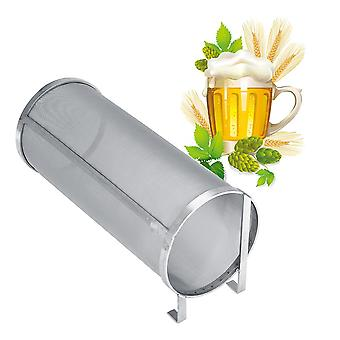 300 Micron Stainless Steel Homemade Brew Beer Hop Mesh Filter Strainer with Hook Beer Brewing Hop Spider Mesh Filter Strainer