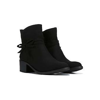 Kids Nine West Girls Cyndees Ankle Zipper Western Boots