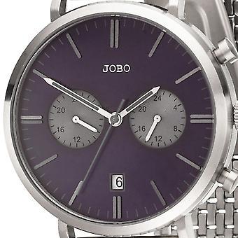 JOBO Men ' s ceas de mana cuarț analog din oțel inoxidabil data Men ' s Watch